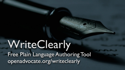 Webinar: Plain Language Tools for Legal Services Websites